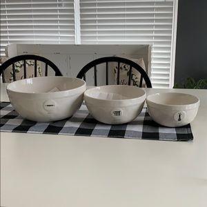 Set of Three Rae Dunn icon mixing bowl set!